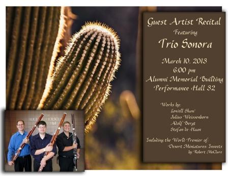 Trio Sonora flier